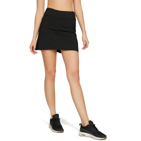 HONOURSPORT スコート レディース ゴルフ トレーニング 無地 テニス スカート インナー付 BK_WH US S