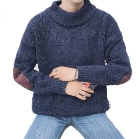 セーター 長袖 メンズ ニット服 プルオーバー インナーシャツ 秋冬服 ケーブル編み 韓国 暖かい 無地 丸首 ゆったり おしゃれ 厚手 ビジネス 男の子 学生 トップス ファッション XXL ネイビー