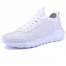 [InitialG] [eleitchtee]イニシャルジー スニーカー 運動靴 メンズ 大きいサイズ 編み込 008-cl-pw1756(24 ホワイト)