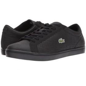 Lacoste(ラコステ) メンズ 男性用 シューズ 靴 スニーカー 運動靴 Straightset Sp 417 1 Cam - Black/Black 8.5 M [並行輸入品]