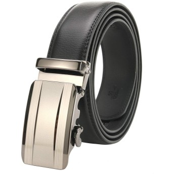 KISSUN オートロック式ベルト メンズ ギフトBOX付 (ブラック, 110CM)