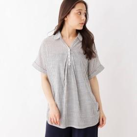 SHOO・LA・RUE/Mrs.(シューラルー)/スキッパーフロントタックシャツ