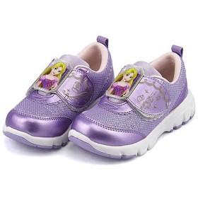 [ディズニー] 女の子 キッズ 子供靴 運動靴 通学靴 ラプンツェル ランニングシューズ スニーカー EE クッション性 カジュアル スポーツ スクール 学校 DN C1221 パープル 14.0cm