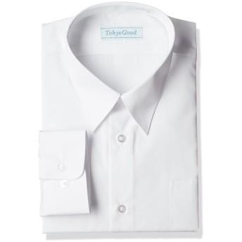 スクール Yシャツ 男子 学生 ワイシャツ A体 B体 長袖 半袖 形態安定 抗菌 防臭 (170A, 長袖)