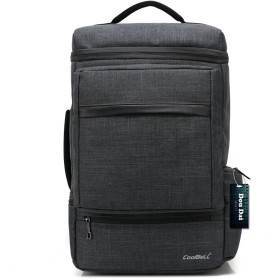 DouDai リュック 2way メンズ レディース ビジネス バッグ 15.6インチ 大容量 リュックサック (7002, ブラック)