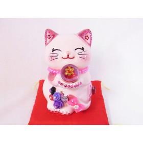 ギフト ジュエリ 招き猫 風水 招き猫バンク(L)ハッピーキャット・レギュラー版 ピンク