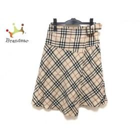 バーバリーロンドン 巻きスカート サイズ38 L レディース ベージュ×黒×レッド チェック柄  値下げ 20190912