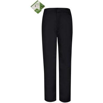 Bienzoe ボーイズ スクール制服 耐久性 ウエスト調節 フォーマル パンツ ズボン サイズ 10 ブラック