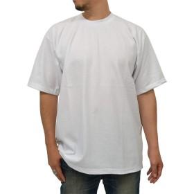 PRO CLUB(プロクラブ) 大きいサイズ メンズ Tシャツ 無地 (small, ホワイト)