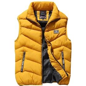 BANKIKU(バンキク) メンズ ベスト ダウン おしゃれ 中綿ベスト カジュアル ベスト ジャケット アウター かっこいい 暖かい 軽量 黒 紺 赤 黄 グレー