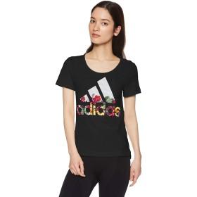 [アディダス] トレーニングウェア 半袖 フラワー Tシャツ [レディース] FSR83 ブラック (DX2535) 日本 J/M (日本サイズM相当)
