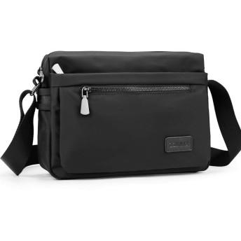 ZZINNA ショルダーバッグ メンズ 斜めがけバッグ 軽量 メッセンジャーバッグ 通勤 おしゃれ レディース 人気 7.9iPad ビジネス (ブラックB)