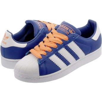 [アディダス] SUPERSTAR COLLEGE ROYAL/RUNNING WHITE/EASY ORANGE28.5cm
