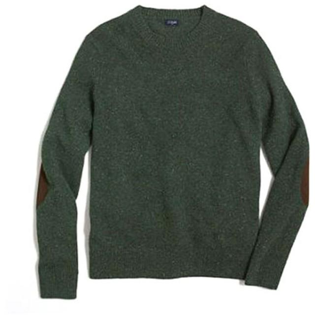 [ジェイクルー] J.CREW 正規品 メンズ セーター DONEGAL ELBOW-PATCH SWEATER L 並行輸入品 (コード:4078433808-4)