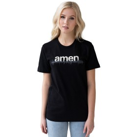 DJtシャツ・Amen break T Shirt・Drum and Bass・アーメン・イングランドでハンドスクリーン印刷されたTシャツ・ドラムンベース・ダブステップ・b系・ストリート系・カジュアル・メンズ・レディース (S)
