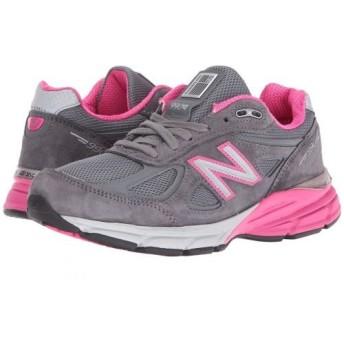 New Balance(ニューバランス) レディース 女性用 シューズ 靴 スニーカー 運動靴 W990v4 - Grey Pink 10.5 D - Wide [並行輸入品]