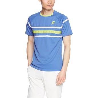 (プリンス)prince テニスウェア ゲームシャツ WU8017 [ユニセックス] WU8017 110 ブルー (110) M