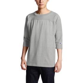 [チャンピオン] T1011 7分袖フットボールTシャツ MADE IN USA C5-U403 メンズ オックスフォードグレー 日本 XL (日本サイズXL相当)