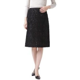 NEWYORKER(ニューヨーカー) フラワーカットジャカード Aラインスカート 黒 11号 512151120511