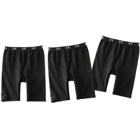 [nissen(ニッセン)] ショーツ 綿混 伸び伸び ストレッチ 3分丈 セット 3枚組 大きいサイズ レディース L~3L