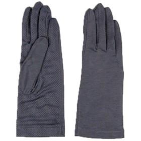紫外線をしっかりガード 清涼メッシュUVカット手袋 グレー F