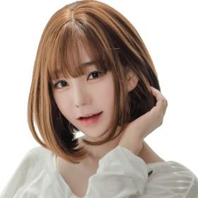 WAKAKAI ウイッグ ロング ヘアー 長い髪 カール 巻き髪 原宿 女装 耐熱 巻き髪 長い髪 軽量 小顔 仮装 (亜麻深)