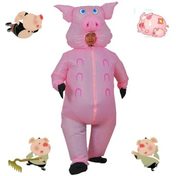 豚 コスプレ アニメダンス 仮装 着ぐるみ大人 コスチューム パーティー バースデーパーティー、ショーパフォーマンス、スポーツ大会