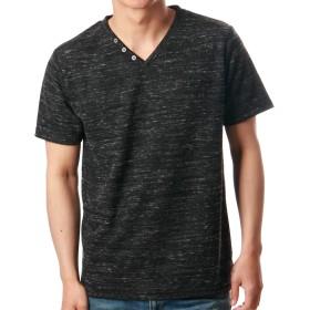 (ノータベネ)Nota Bene LLサイズ ブラック フェイクレイヤードTシャツ メンズ 半袖 Vネック t-shirts カットソー メンズ