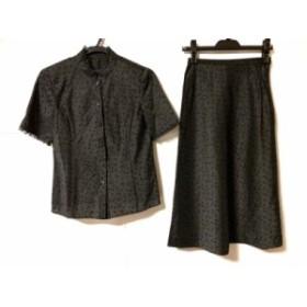 レリアン Leilian スカートセットアップ サイズ7 S レディース 美品 黒×ベージュ【中古】20190712