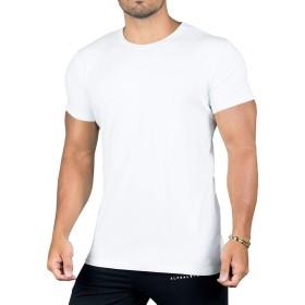 (ビベター)Bebetter メンズ Tシャツ 半袖 スポーツウェア トレーニングウェア フィットネス 無地 ジムウェア ボディビル カジュアル M