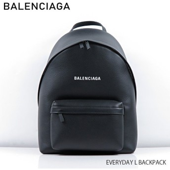 『BALENCIAGA-バレンシアガ-』EVERYDAY L BACKPACK〔552374/DLQ4N〕エブリデイ バックパック リュックサック ロゴ ブラック
