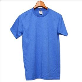 DELTA APPAREL デルタアパレル 霜降り 無地Tシャツ 丸胴ボディ 5.2oz【ProWeight】[ロイヤルヘザー/XL]