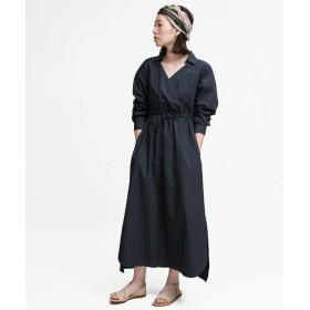[アーバンリサーチ ロッソ] ワンピース ドレス カシュクールマキシシャツワンピース レディース NAVY FREE