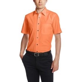 [フェイスミックス] ブロードレギュラーカラー半袖シャツ FB4527U メンズ オレンジ 日本 5L-(日本サイズ5L相当)
