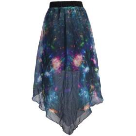 merveile(メルヴィーユ) レディース スカート ミモレ プリーツスカート 宇宙 銀河 シフォン ミニスカート オリジナル デザイン サーキュラー スカート 星 ミドルスカート
