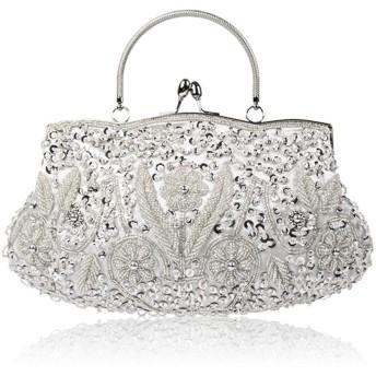 1920S ビンテージスタイルの手作りの手作りビーズの刺繍パーティーの夜のハンドバッグのパーティーのハンドバッグのショルダーバッグ