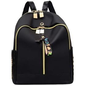 (ウンファッション) WeenFashion レディース ナイロン トートバッグ スタッドドレス ショルダーバッグ AMGBW215748 ブラック