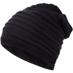ニットキャップ 【男女兼用 ニット帽〔Pleasantjapan〕】ニット帽子 メンズ レディース 薄手 医療用帽子 ケア帽子 にも 編み込み (ブラック)