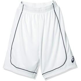 [アシックス] バスケットボールウエア ゲームパンツ XB7614 [メンズ] ホワイト/ネイビー 日本 160 (日本サイズ160 相当)
