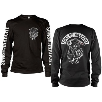 Officially Licensed Merchandise SOA Backpatch Long Sleeve T-Shirt (Black), X-Large