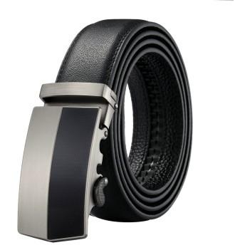 Katun メンズ ベルト レザー オートロック式 ビジネス カジュアル 本革 紳士ベルト ロング130cm サイズ調整自由自在(5種類より)