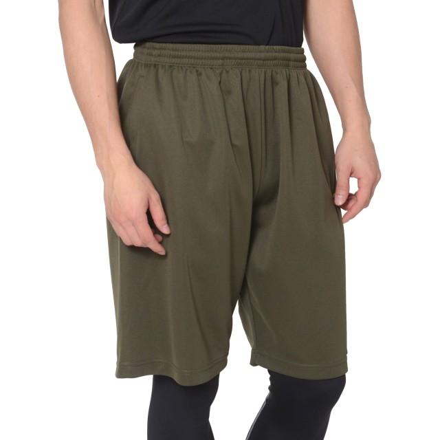 ティーシャツドットエスティー ハーフパンツ ドライ 無地 ポケット付き UVカット 4.4oz メンズ アーミーグリーン L