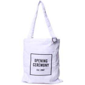 [Opening Ceremony(オープニングセレモニー)] トートバッグ ホワイト ロゴ ユニセックス バッグ 手提げバッグ PE00ZBH 17001 [並行輸入品]