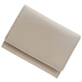 極小財布(エナメル/牛革)ベーシック型小銭入れ BECKER(ベッカー)日本製 (ライトグレージュ)