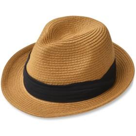 (エッジシティー)EdgeCity 折りたたみ可能 大きいサイズ メンズ 麦わら帽子 ストローハット L 61cm 000319-0026-61