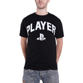 Playstation T Shirt Player Block Text Classic Logo 新しい 公式 メンズ Size L