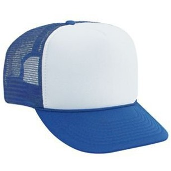 OTTO オット 無地 ソリッド メッシュ キャップ 12カラー 39-169 Polyester Foam Front High Crown Golf Style Mesh Back Caps (ロイヤル/ホワイト) [並行輸入品]
