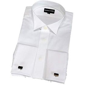 ドレスシャツ白LL(42cm)W-SC-02 カフスボタン付 ハイカラー ダブルカフス 新郎用シャツ モーニング用シャツ フォーマルシャツ