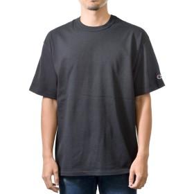(チャンピオン) Champion 7.0oz ヘリテージ ジャージー メンズ 半袖 Tシャツ (XL, ブラック) [並行輸入品]