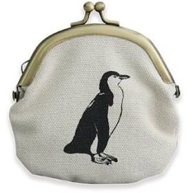 [グリーンフラッシュ] Animal Series がま口ポーチ GF-365 ペンギン One Size